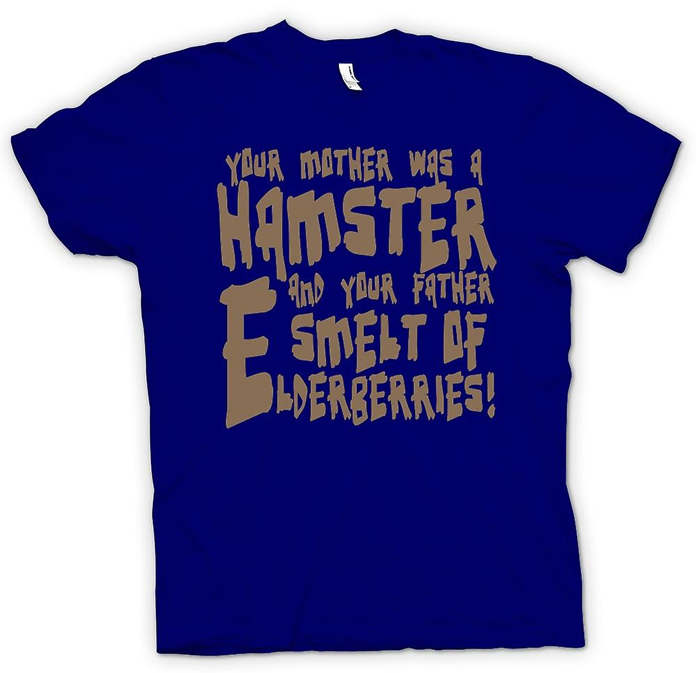 Mens T-shirt - Your mother was a hamster - Funny Quote