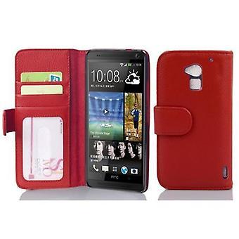 Cadorabo Hülle für HTC ONE MAX T6 - Handyhülle mit 3 Kartenfächern - Case Cover Schutzhülle Etui Tasche Book Klapp Style