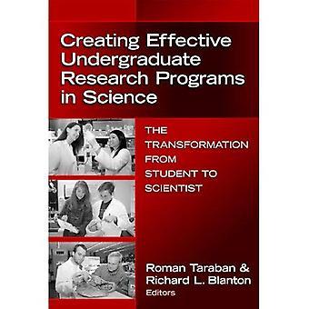 Att skapa effektiva grundutbildningsprogram forskningsprogram i Science: omformningen från Student till forskare