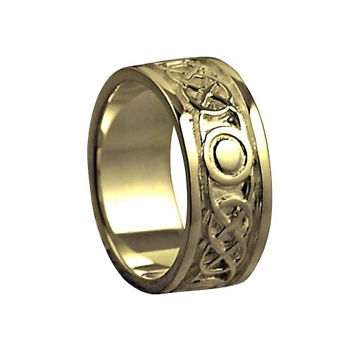 18ct Gold 8mm Celtic Wedding Ring Size P