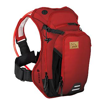 USWE Chili Red Patriot 9 - With 3 Litre Bladder - 6 Litre Hydration Pack with Re