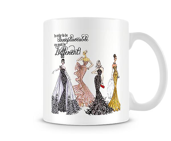 In Order To Be Irreplaceable One Must Be Different Mug