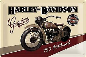Harley Davidson Flathead embossed steel sign  (na2030)
