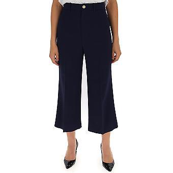 Gucci Blue Cotton Pants