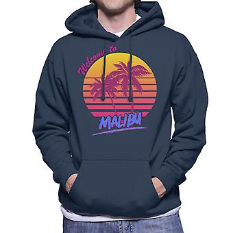 Welcome To Malibu Retro 80s Men's Hooded Sweatshirt
