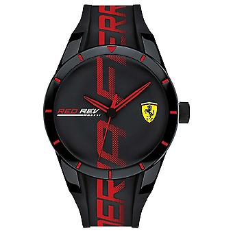 Scuderia Ferrari | Men's Redrev | Black/Red Silicone Strap | Black Dial | 0830614 Watch