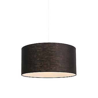 Lámpara de techo moderna QAZQA blanco con 50cm negra sombra - Combi 1