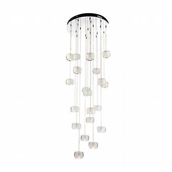 Endon 61805 Seymour 20 Light Ceiling Pendant Light with Crystal Glass