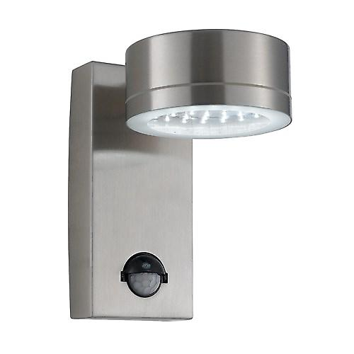 Searchlight 9550SS Outdoor Led Modern Security Wall Light With PIR Motion Sensor