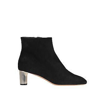 Céline Black Suede Ankle Boots
