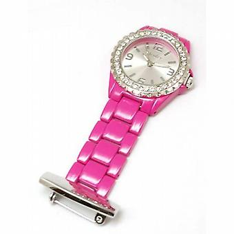 Henley Glamour Hot Pink Enamel Beauticians Fob Watch HF01.5