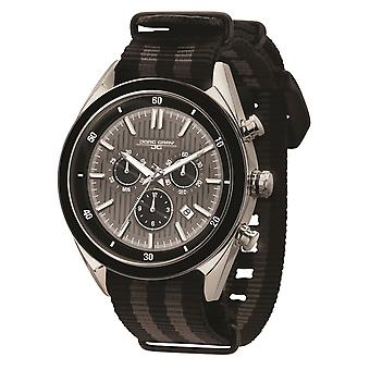 JG6900-23N Mens Watch Chrono movimento svizzero con cinturino nero