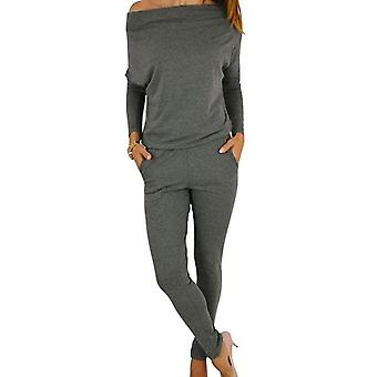 Dame chic casual off skulder langærmet Jumpsuit Playsuit casual