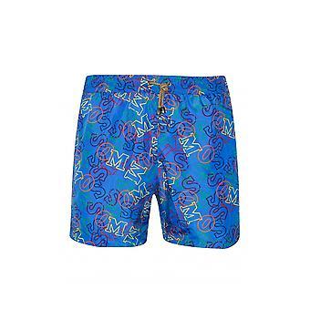 MISSONI Mare MISSONI Mare Royal Blue Logo Print Swim Shorts