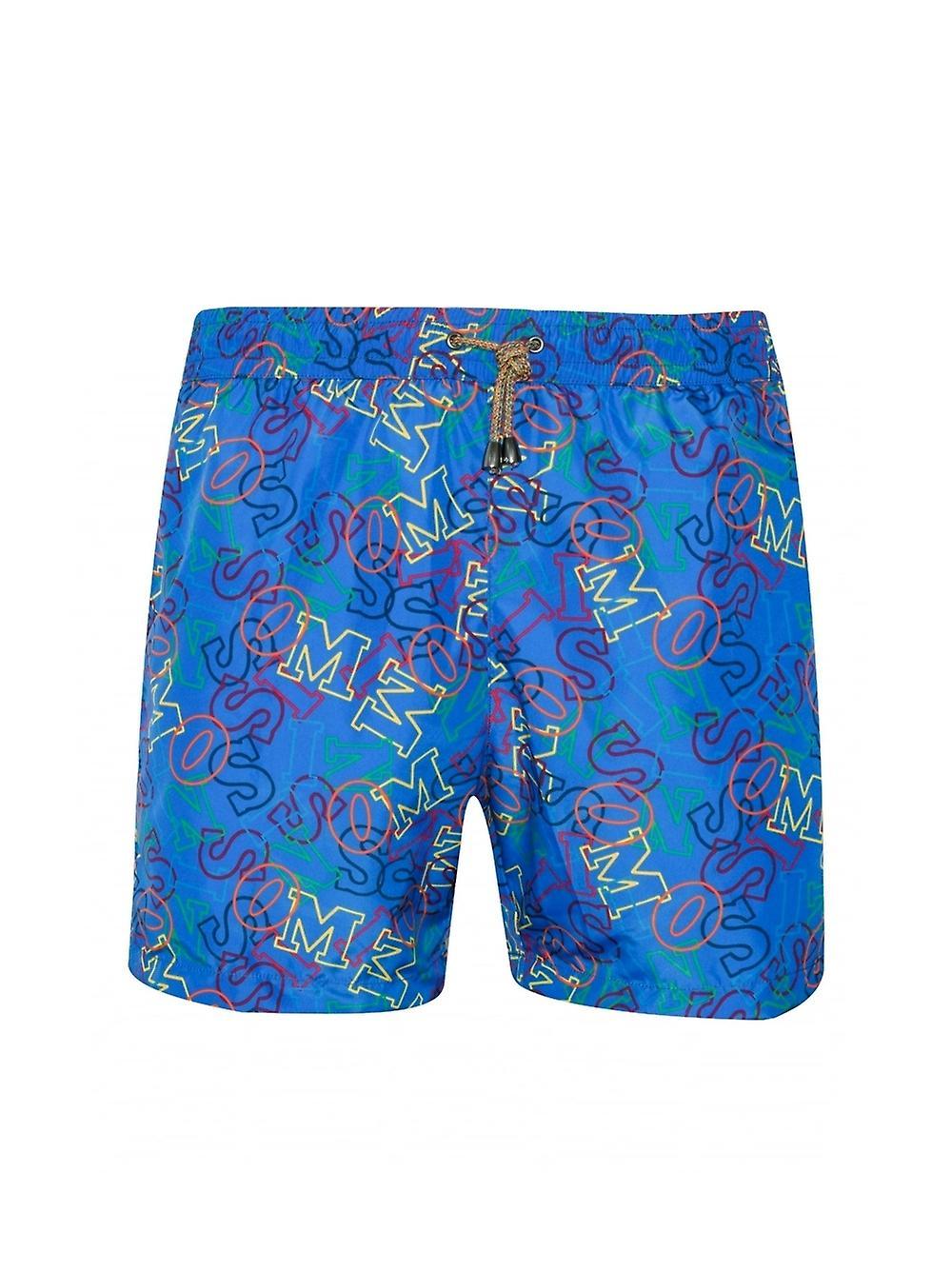 MISSONI Mare MISSONI Mare Royal bleu Logo Print Swim courtes
