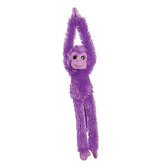 Aurora världen 19-tums färgglada hängande schimpans (lila)