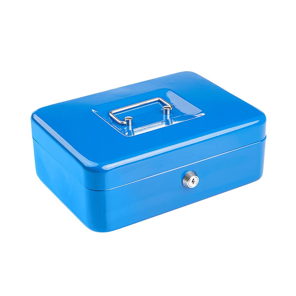 Compact Solid Steel Lockable Petty Cash Money / Valuables Safe Box - 10 Inch