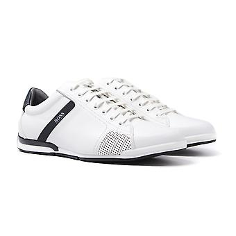 BOSS Saturn Lowp White Leather Trainers