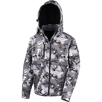 SAS Special Air Service - Who Dares Wins - Licensed British Army Embroidered Performance Hooded Camo Softshell Jacket
