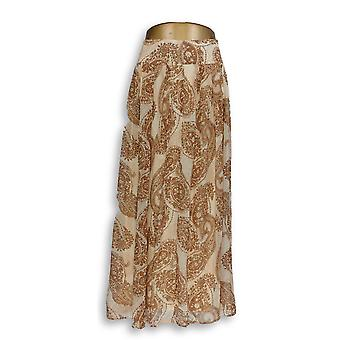 Dennis Basso Petite Rock Paisley gedruckt Pleated Beige A264949