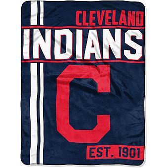 Northwest MLB Cleveland Indians micro pluche deken 150x115cm