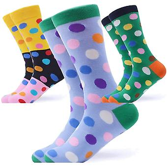 Men's bright spots gift 3 pairs of socks