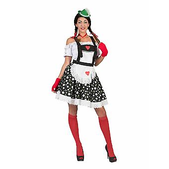 Oktoberfest Rock Edelweiss Lore with suspenders Ladies Tyrolean Costume Women's Costume Costume Carnival Carnival Party