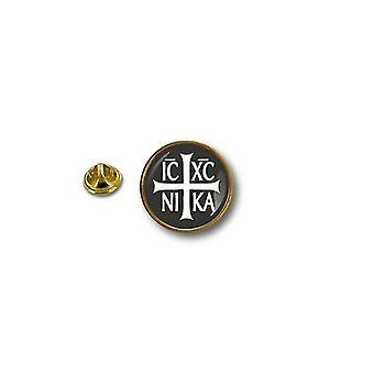 Pins Pin Badge Pin's Metal Broche Pince Papillon Drapeau Jesus Christ Ic Xc Nika