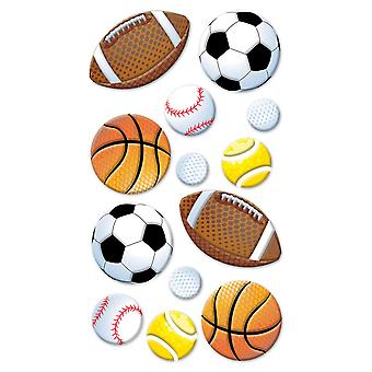 Puffy Dimensional Stickers Sport Balls Spp1pvc 43