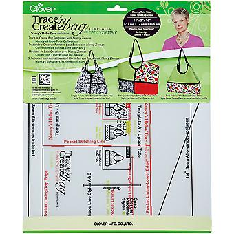 Trace 'N Create Bag Templates With Nancy Zieman Nancy's Hobo Tote Collection 9576