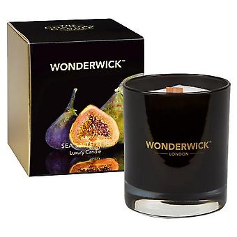 Wonderwick Noir Candle in a Glass - Sea Salted Fig