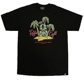 Rebel8 Permanent Vacation T-shirt Black