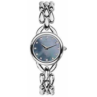Michel Herbelin Womans Waterfall Blue Mother Of Pearl Cubic Zirconia Dial 17475/B60 Watch