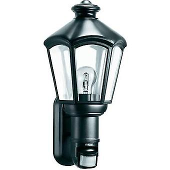 Outdoor wall light (+ motion detector) Energy-saving bulb, LED E27 60 W Steinel L 562 S 634612 Black