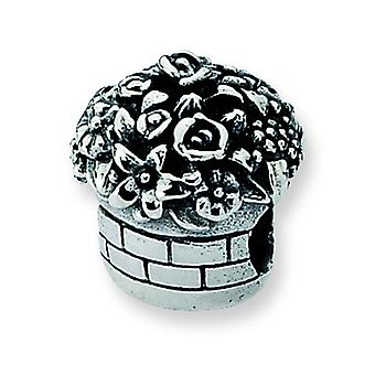 Sterling Silver Reflections Flower Bouquet Bead Charm