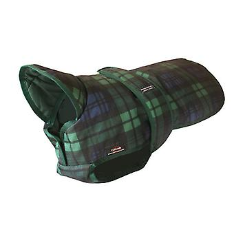 Outhwaites Waterproof Polyester Padded Underbelly Coat Blue & Green Tartan 25cm (10