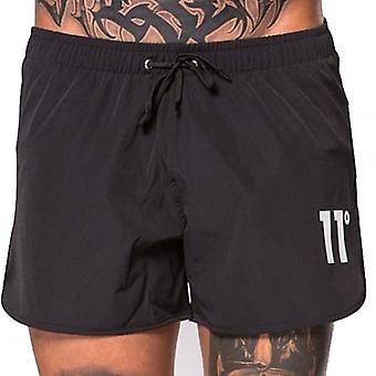 11 Degrees Retro Swim Shorts Black