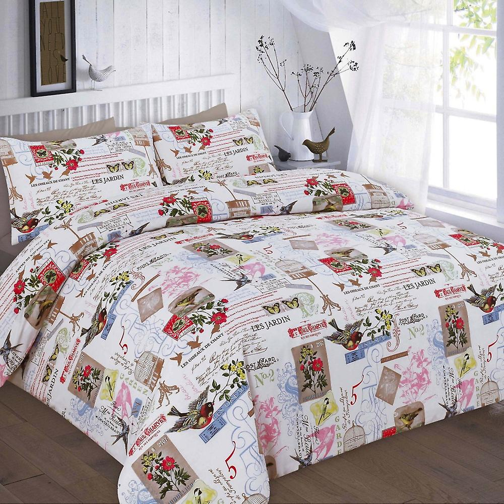 Printed Tilly Vintage Cover Bedding Quilt Duvet Set zMpVUqSG
