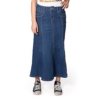 Stone washed Denim gonna (SKIRT89) SKIRT89 Womens Jean Mini gonna Midi