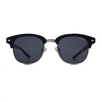 Levis Retro Browline Style Sunglasses In Black Silver