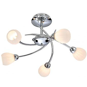 Firstlight moderne krom Semi Flush loft lysekrone