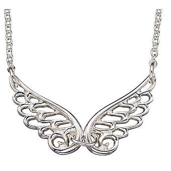 Plata 925 chapado en rodio Angel alas collar tendencia