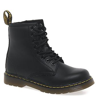 Dr. Martens Delaney Kids Black Softy T Leather Boots