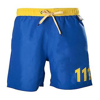 Fallout 111 Swim Trunks L Size Blue/Yellow (SH301002FOT-L)