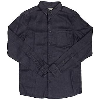 Wesc Eric Denim Long Sleeve Shirt Fine Indigo Blue