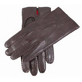 Dents Silk Lined Kingston Leather Gloves - Brown