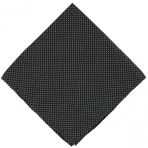 Michelsons of London Pin Dot Silk Handkerchief - Black