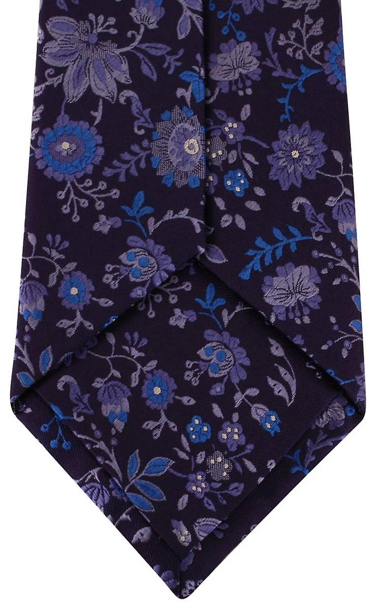 Posh and Dandy Floral Tie - Blue