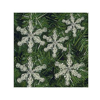SALE - 5 Bead Snowflake Tree Decorations - Christmas Craft Kit