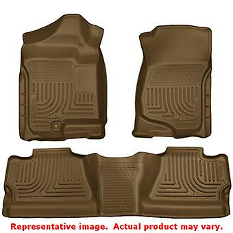 Husky Liners 98203 Tan WeatherBeater Front & 2nd Seat F FITS:CHEVROLET 2007 - 2